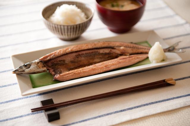 秋刀魚と味噌汁F2.8